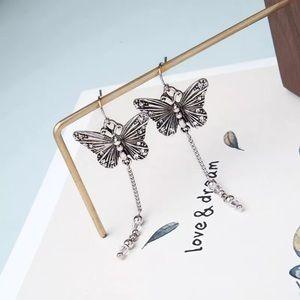 Betsey Johnson Rhinestone Butterfly Earrings